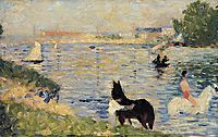 Horses in the Water, 1883, seurat