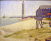 Hospice and Lighthouse, Honfleur, 1886, seurat