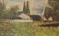 A house between trees , 1883, seurat
