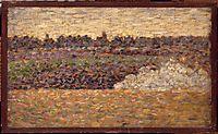 Landscape at Grandcamp, 1885, seurat