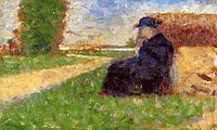 Large Figure in a Landscape, 1883, seurat