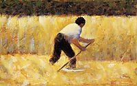 Le Faucheur, 1881-1882, seurat