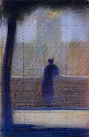 Man leaning on a parapet, 1881, seurat
