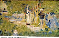 Man Painting his Boat, 1883, seurat