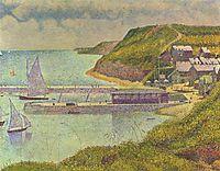 Marine, Port-en-Bessin, 1888, seurat
