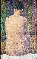 Model from the Back, 1886, seurat