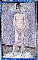 Model to front, 1887, seurat