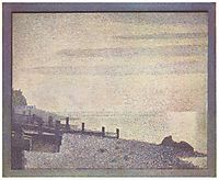 Mouth of the Seine at Honfleur, evening, 1886, seurat