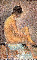 Nude,seated, 1887, seurat