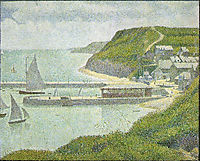 Outer Harbor,Port-en-Bessin,high tide, 1888, seurat