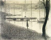 The Pont de Courbevoie, 1886, seurat