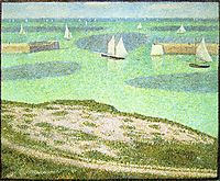 Port-en-Bessin Entrance to the Harbor, 1888, seurat