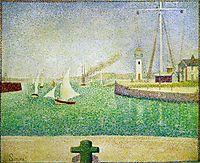 Port of Honfleur, 1886, seurat