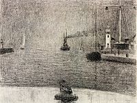 The Port of Honfleur, 1886, seurat