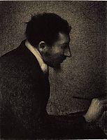 Portrait of Edmond-François Aman-Jean, 1883, seurat