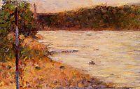 A River Bank (The Seine at Asnieres), 1883, seurat