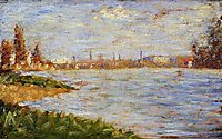 The Riverbanks, 1883, seurat
