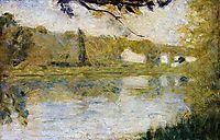 The Riverside, 1883, seurat
