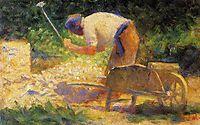 Rock-Breaker with a Wheelbarrow, 1882, seurat