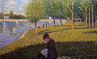 Study for -A Sunday Afternoon on the Island of La Grande Jatte-, 1886, seurat