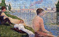 Seated Bather, 1883, seurat