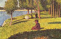 Seated figures, 1884, seurat