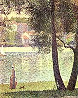 The Seine at Courbevoie, 1885, seurat