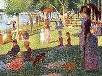 Sketch with Many Figures for Sunday Afternoon on Grande Jatte, 1884, seurat