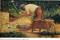 Stone Breaker and Wheelbarrow, Le Raincy, 1883, seurat