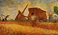 The Stone Breakers, 1883, seurat