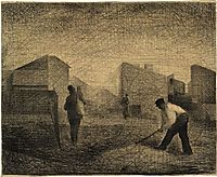 Stone breakers, Le-Raincy, 1881, seurat