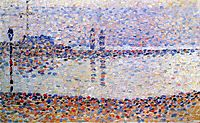 Study for -The Channel at Gravelines, Evening-, 1890, seurat