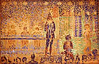 Study for -Invitation to the Sideshow- , 1888, seurat