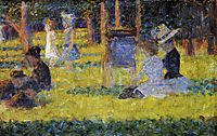 Study for -A Sunday Afternoon on the Island of La Grande Jatte-, 1884, seurat