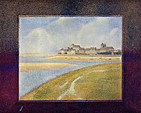 View of Crotoy, the Hill, 1889, seurat