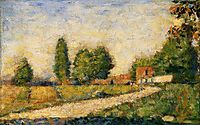 Village Road, 1883, seurat
