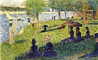 Woman Fishing and Seated Figures, 1884, seurat