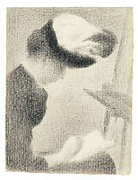 Woman reading in the studio, 1887-88, seurat