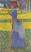 Woman with Umbrella, 1884, seurat