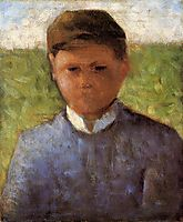 Young Peasant in Blue, 1881-1882, seurat