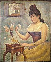Young Woman Powdering Herself, 1888-1890, seurat
