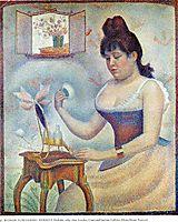 Young Woman Powdering Herself, 1890, seurat
