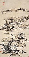 Landscape (Ni Zan Style), shanren