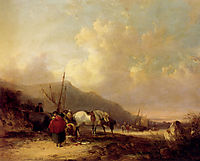 A Busy Beach Scene, shayer