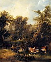 Cattle By A Stream, shayer