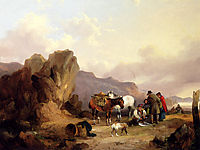 Fisherfolk Sorting The Catch, 1837, shayer