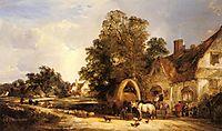 The Half Way House, Thatcham, 1848, shayer
