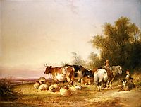 Herders Resting at Lunch, shayer