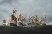 HMS Alexander' Commanded by Captain Rodney Bligh, Shortly before Striking Her Colours to the French Squadron, 6 November 1794, 1819, shayer