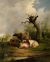 Landscape with Cattle, shayer